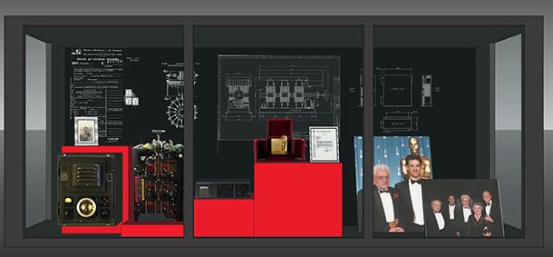 Vetrina dedicata a Mario Celso al Museo Cinema Torino
