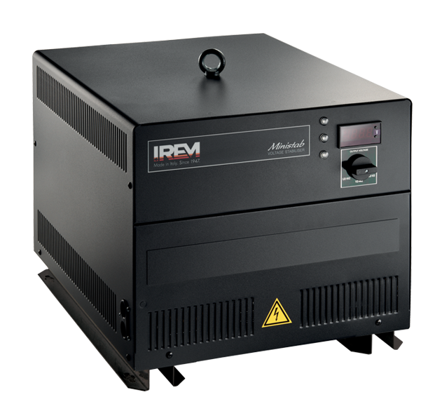 IREM Automatic voltage stabilizer MINISTAB T COMMON REGULATION OF THE THREE PHASES