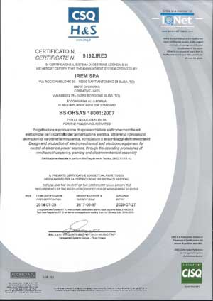 ISO 9001 dal 1991