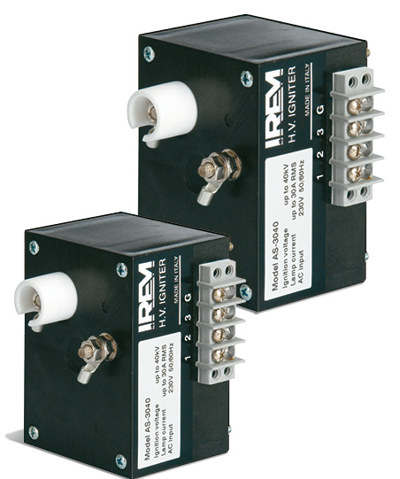 IREM IGNITERS FOR SHORT ARC XENON LAMPS - AS SERIES