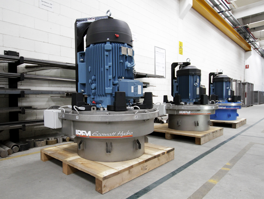 IREM Tres turbinas Pelton Ecowatt Hydro destinados a la región de Trentino Alto Adige