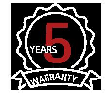 Garantie: 5 ans