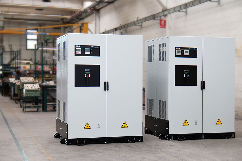 IREM Voltage stabilizers in anti-seismic version to guarantee Power Quality in extreme conditions.