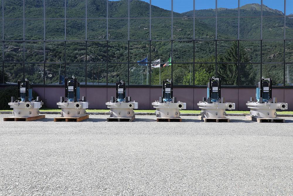6 turbine Pelton per l'acquedotto del comune di Buglio in Monte